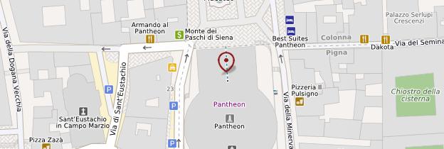 Carte Panthéon - Rome