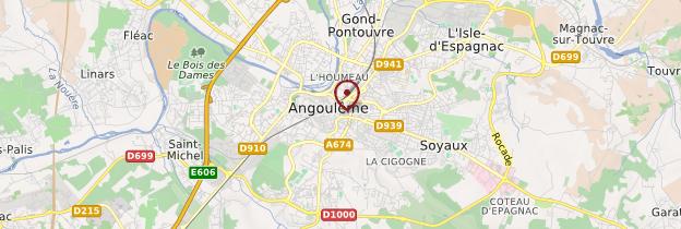 Carte Angoulême - Poitou, Charentes