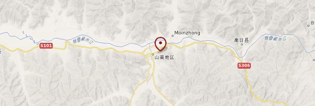 Carte Tsétang et environs - Tibet
