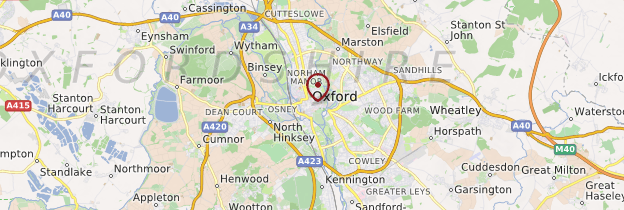 Carte Oxford - Angleterre