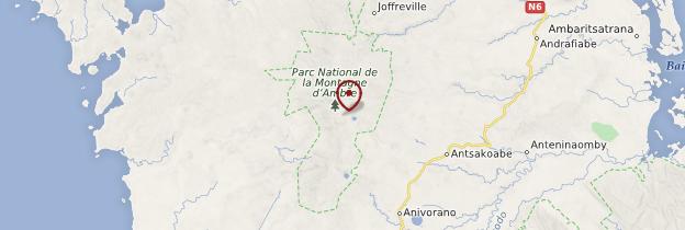 Carte Parc national de la Montagne d'Ambre - Madagascar