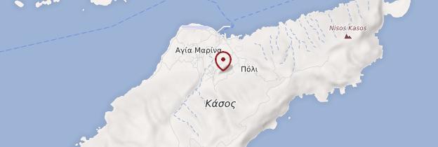 Carte Île de Kassos - Îles grecques