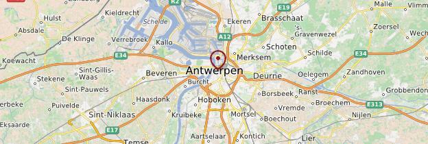 Carte Anvers (Antwerpen) - Belgique