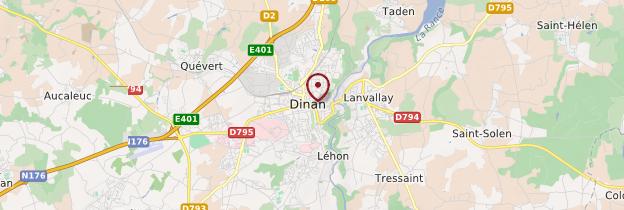 Carte Dinan - Bretagne