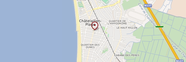 Carte Châtelaillon-Plage - Poitou, Charentes