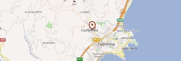 Carte Castelmola - Sicile