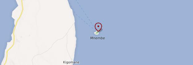 Carte Îlot de Mnemba - Zanzibar