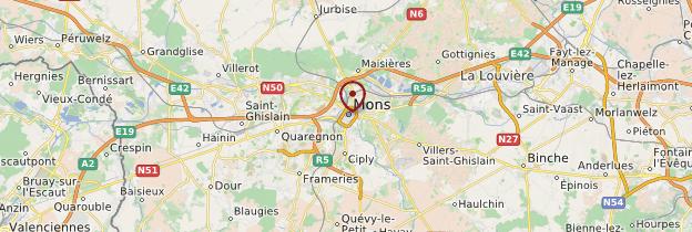 Carte Mons - Belgique