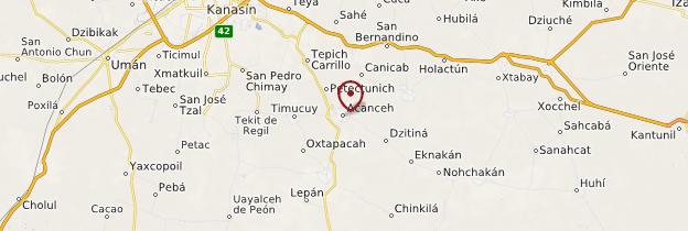 Carte Acanceh - Mexique