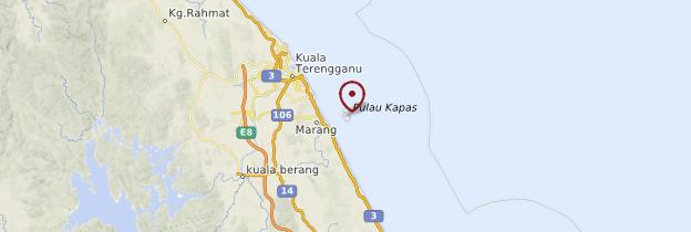 Carte Île de Kapas (Pulau Kapas) - Malaisie