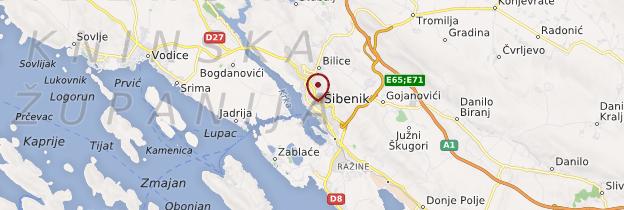 Carte Šibenik - Croatie