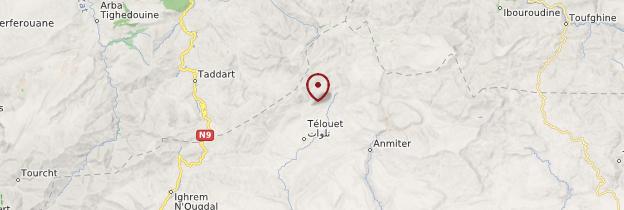 Carte Telouet - Maroc
