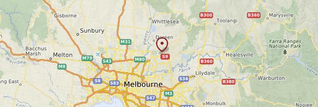 Carte Environs de Melbourne - Australie