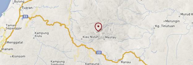 Carte Mont Kinabalu - Bornéo