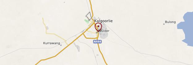 Carte Kalgourlie-Boulder - Australie