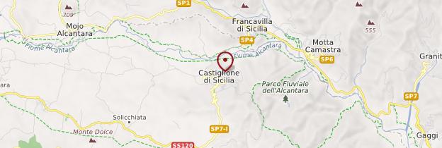 Carte Castiglione di Sicilia - Sicile