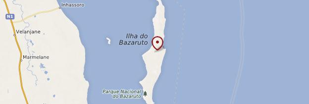 Carte Archipel de Bazaruto - Mozambique