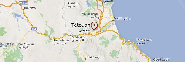 Carte Tétouan - Maroc