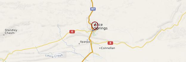 Carte Alice Springs - Australie