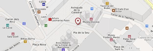 Carte Catedral (Cathédrale) - Barcelone