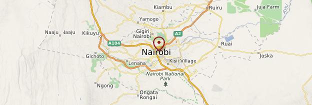 Carte Nairobi - Kenya