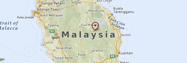 Carte Parc national de Taman Negara - Malaisie