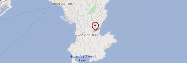 Carte Cap d'Antibes - Côte d'Azur