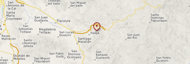 Carte Mitla - Mexique