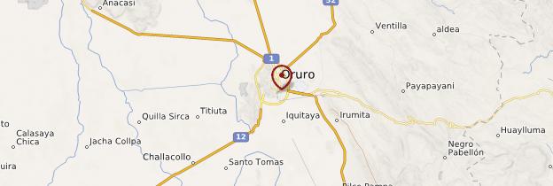 Carte Oruro - Bolivie