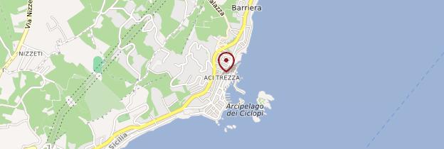 Carte Aci Trezza - Sicile