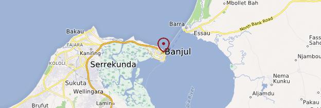 Carte Banjul - Gambie