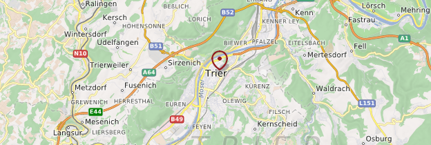 Carte Trier (Trèves) - Allemagne