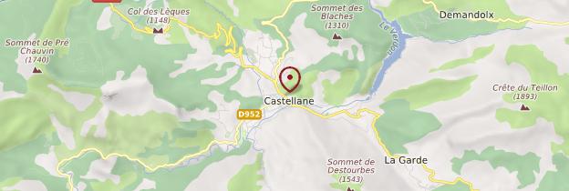 Carte Castellane - Provence