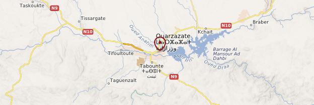 Carte Ouarzazate - Maroc