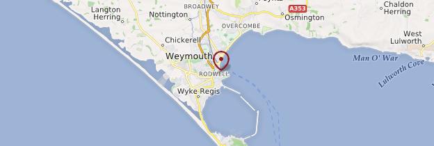 Carte Weymouth - Angleterre