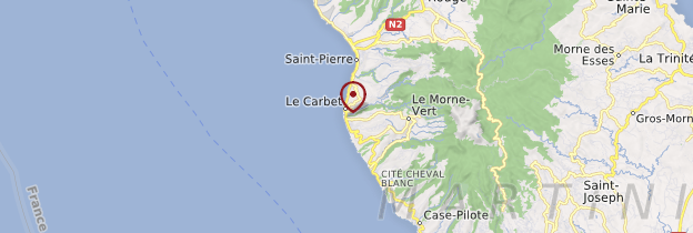 Carte Le Carbet - Martinique