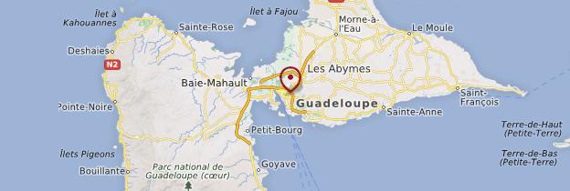 Carte Pointe-à-Pitre - Guadeloupe