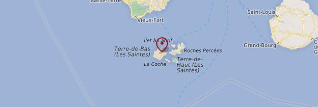 Carte Terre-de-Bas - Guadeloupe