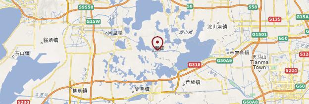Carte Zhouzhuang - Chine