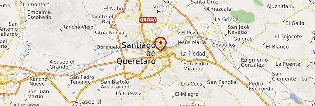 Carte Querétaro - Mexique