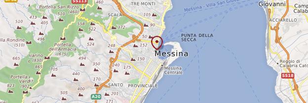 Carte Messina (Messine) - Sicile