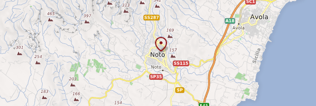 Carte Noto - Sicile
