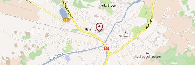 Carte Røros - Norvège