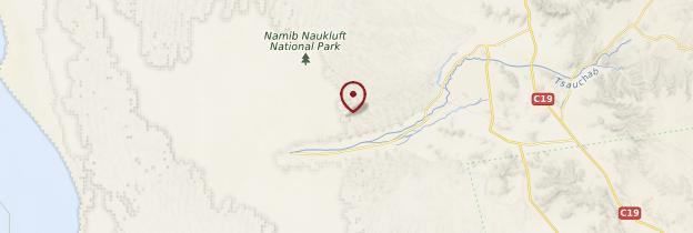 Carte Naukluft Park - Namibie