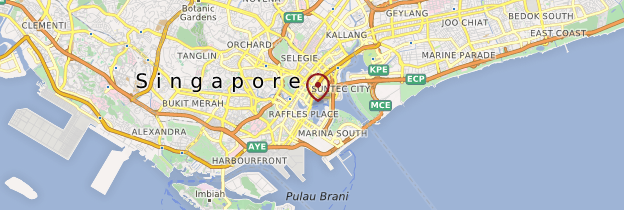 Carte The Merlion - Singapour