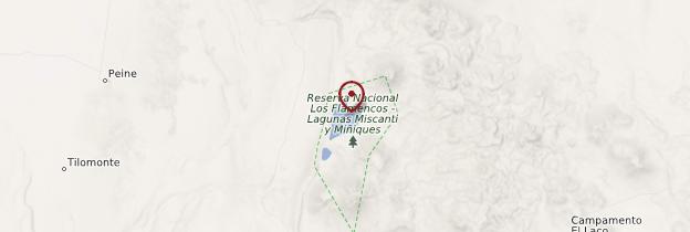 Carte Lagunas Miscanti-Miñiques - Chili