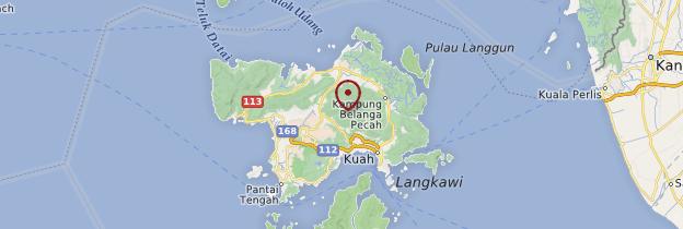 Carte Îles Langkawi - Malaisie