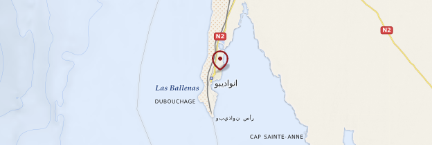 Carte Nouadhibou - Mauritanie