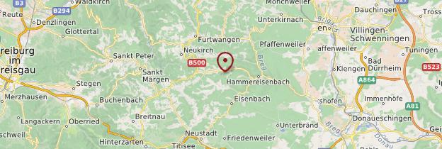 Carte Forêt-Noire - Allemagne