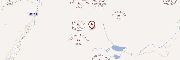 Carte Vallée des Merveilles - Côte d'Azur